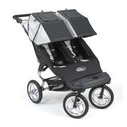 Baby Jogger 2007 City Double Stroller - Black/Silver