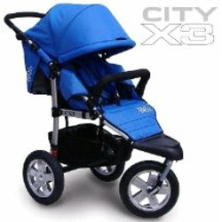City X3 Swivel Stroller Color: Blue