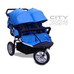City X3 Double Swivel Stroller Color: Blue