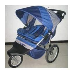 Free Wheeler AL 2 (Blue / Grey) Swivel Wheel Double Jogging Stroller from Schwinn