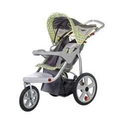 InSTEP Safari Swivel Single jogging stroller Gray/Green