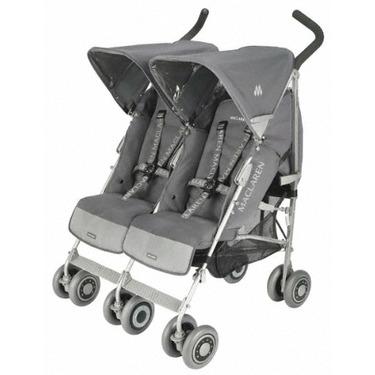 Maclaren Twin Techno Stroller, Charcoal On Silver Frame