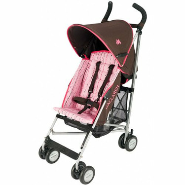 Maclaren Triumph Stroller Coffee Pink Bubbles WOX05273