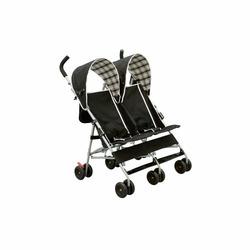 Delta City Street Side by Side Stroller, Black