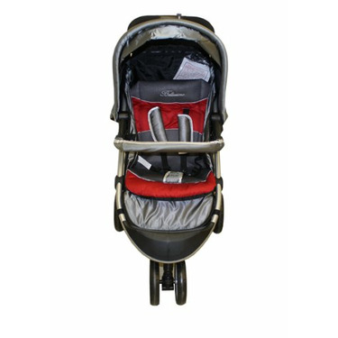 """Dream On Me Lightweight Tripod Style Stroller with """"Peek A Boo"""" Canopy, Gray/Red"""