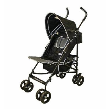 Dream On Me Lightweight 5 Position Stroller, Black/Gray
