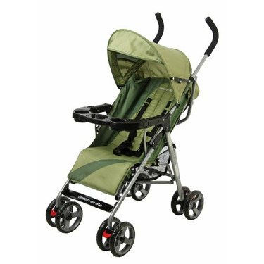 Dream On Me Umbrella Stroller with Child Tray, Green