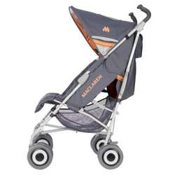 Maclaren Techno XLR Buggy Stroller Charcoal and Burnt Orange