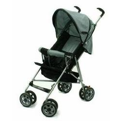 Dream On Me Single Stroller with large Canopy (Black/Grey)