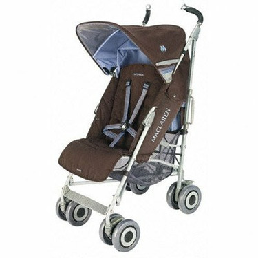 Maclaren Techno XLR Stroller - Color: Coffee Brown/Soft Blue