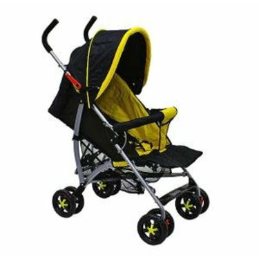 Dream On Me 5 Position Reclining Stroller W 2 Trays (Yellow/Black)