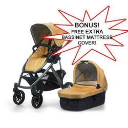 UPPAbaby Yellow Maya Vista Stroller 2010 with FREE EXTRA BASSINET MATTRESS COVER
