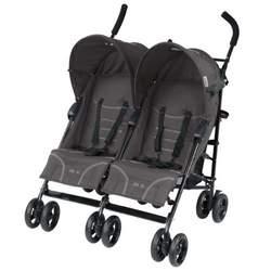 Mia Moda Facile Twin Stroller, Carbon