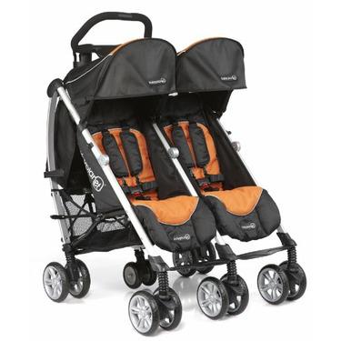 BabyPlanet Unity Sport Twin Stroller, Terra Cotta