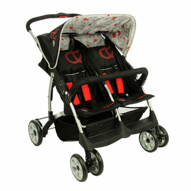 Dream On Me Side By Side Double Stroller, Red