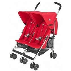 Maclaren Triumph Twin stroller Scarlet Silver