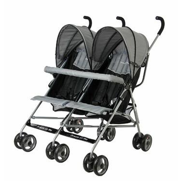 Dream On Me Twin Stroller, Grey