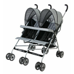 Dream On Me Twin Stroller, Grey