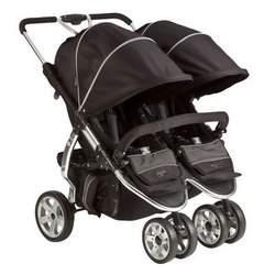 Valco Latitude Twin Stroller - Licorice