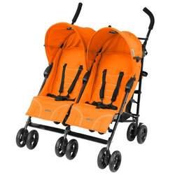 Mia Moda Facile Twin Stroller, Tangerine