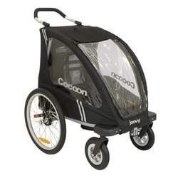 Joovy Cocoon Enclosed Single Stroller, Black