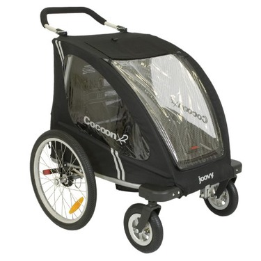 Joovy Cocoon X2 Enclosed Double Stroller, Black