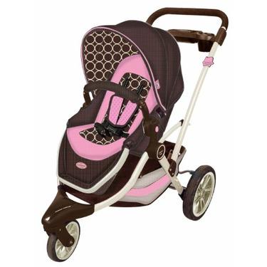 Kolcraft Contours Options 3-Wheel Stroller, Blush