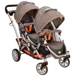 Kolcraft Contours Options Tandem II Stroller, Tangerine