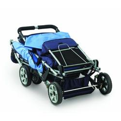 Foundations Trio Triple Tandem Stroller, Blue