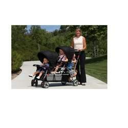 Joovy Big Caboose Stand-On Tandem Triple Stroller Black