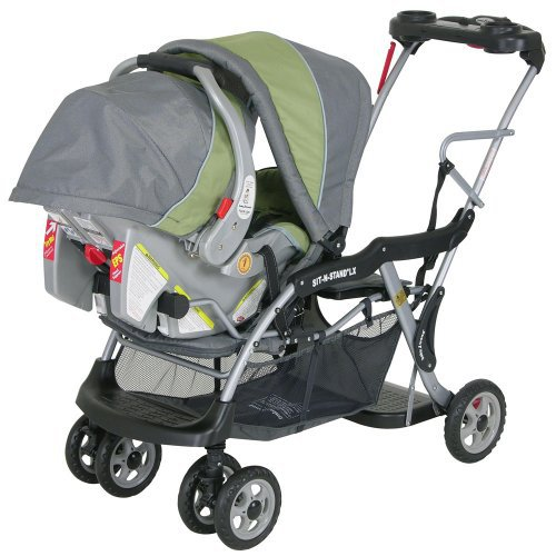 Baby Trend Sit N Stand Double Stroller Pistachio: Baby Trend Columbia Sit N Stand LX Stroller