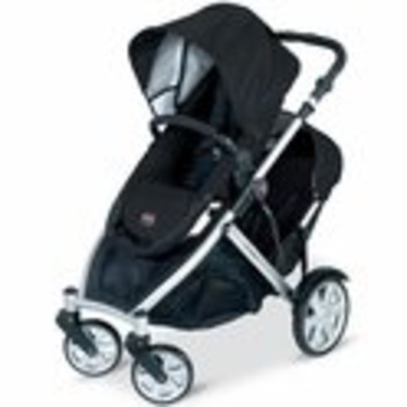 Britax B-Ready Stroller and Black 2nd Stroller Seat-Black