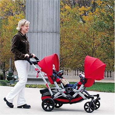 Kolcraft 2009 Contours Options Tandem Stroller - Ruby