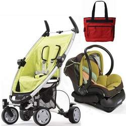 Quinny 2010 Zapp 4 Travel System Citro with Free Fashionable Diaper Bag