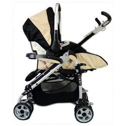 Brand New Baby Dreamer Cruiser Aluminum Baby Stroller + Car Seat Travel System (Biege)