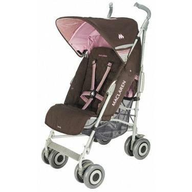 Maclaren Techno XLR Stroller, Coffee/Powder Pink