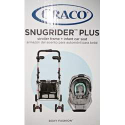 Graco Baby SnugRider Plus Stroller Frame & Infant Car Seat Snug Rider