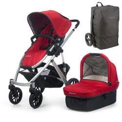 UPPAbaby 0056-DNYTB Denny VISTA Stroller - Red w/ Travel Bag