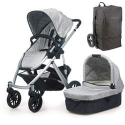 UPPAbaby 0056-MCATB Mica VISTA Stroller - Silver w/ Travel Bag