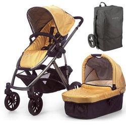 UPPAbaby 0056-MYATB Maya VISTA Stroller - Yellow w/ Travel Bag