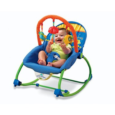 Fisher-Price Infant-To-Toddler Rocker, Blue/Green