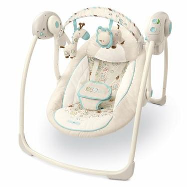 Bright Starts Comfort & Harmony Portable Swing, Biscotti Baby