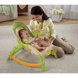 Fisher-Price Newborn-To-Toddler Portable Rocker, Lizards