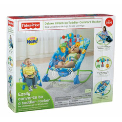 Fisher-Price Deluxe Infant-to-Toddler Comfort Rocker, Alpha Fun