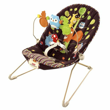 Fisher Price Soothe N Play Bouncer - Woodland Animals
