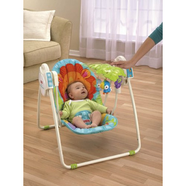 Fisher-Price Precious Planet Open Top Take-Along Swing, Blue Sky