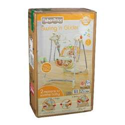Fisher-Price Dreamsicle Collection Swing N Glider, Tan/Orange