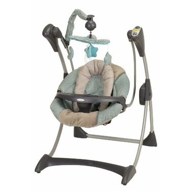 Graco Silhouette Swing with 6 Speed and 3 Position Recline, Clairmont
