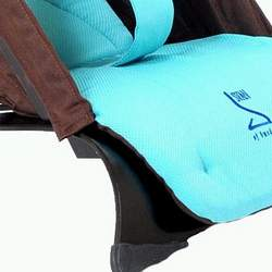 Svan Bouncer in Chocolate and Turquoise with Espresso Wood