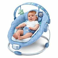 Bright Starts Comfort & Harmony Baby Bouncer - Blue